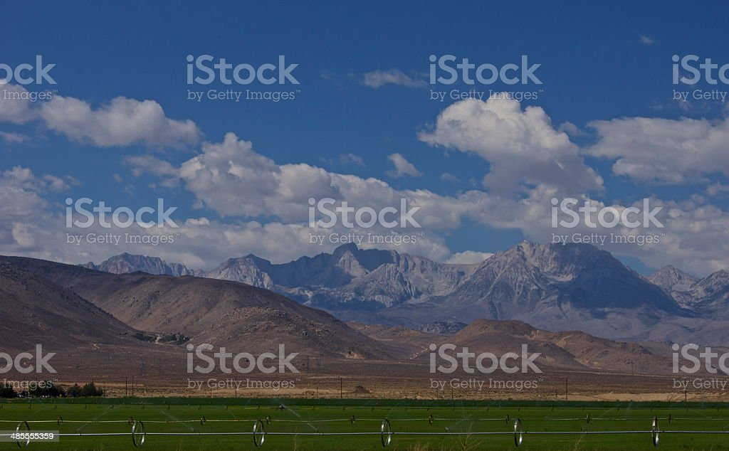 High Sierra Valley stock photo