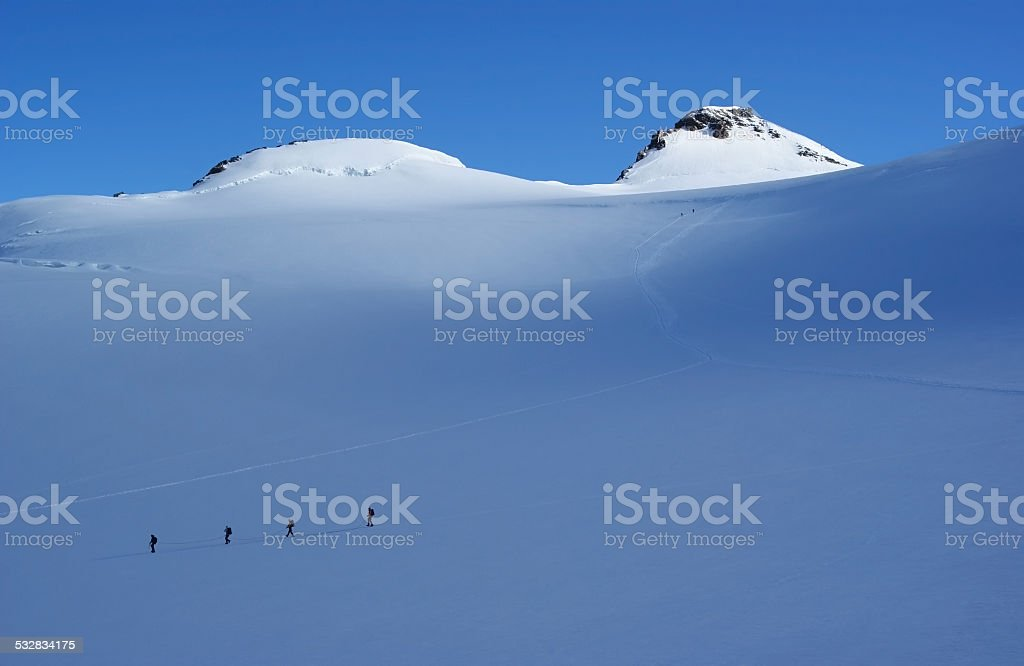 High snowy mountain stock photo
