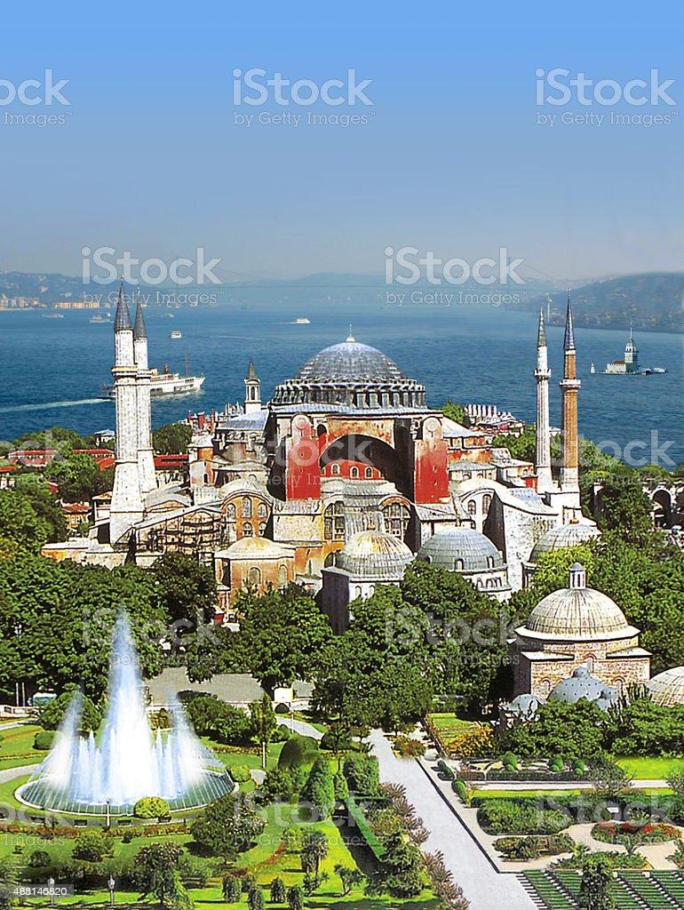 High Sophia Ayasofye istanbul stock photo