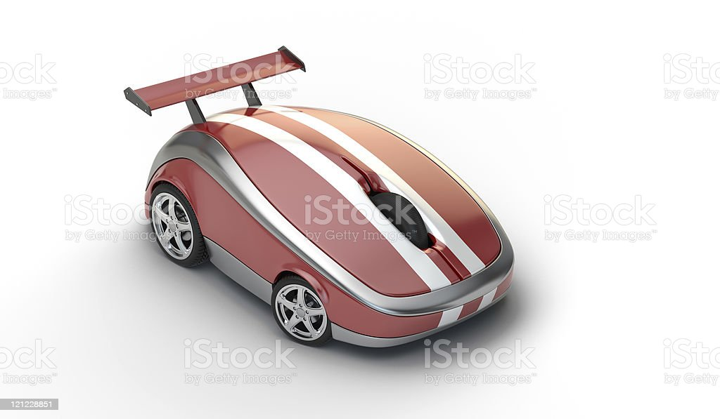 High speed computer mouse concept stock photo