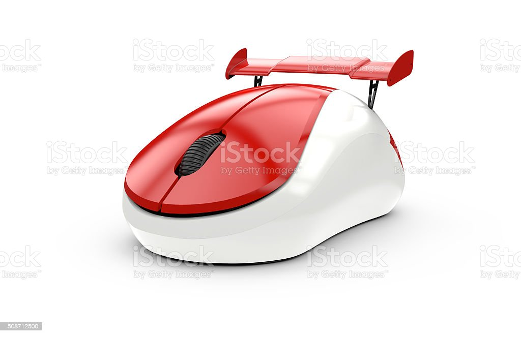 High speed computer mouse stock photo