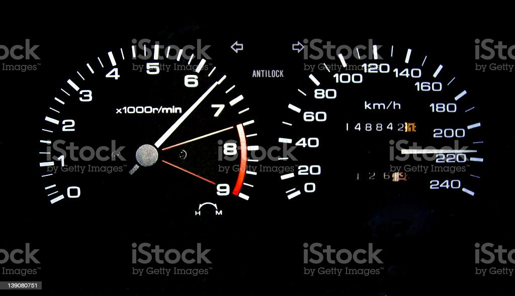 High Speed Dashboard royalty-free stock photo