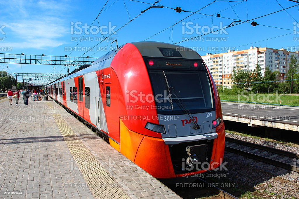 High speed electric train Siemens Desiro stock photo