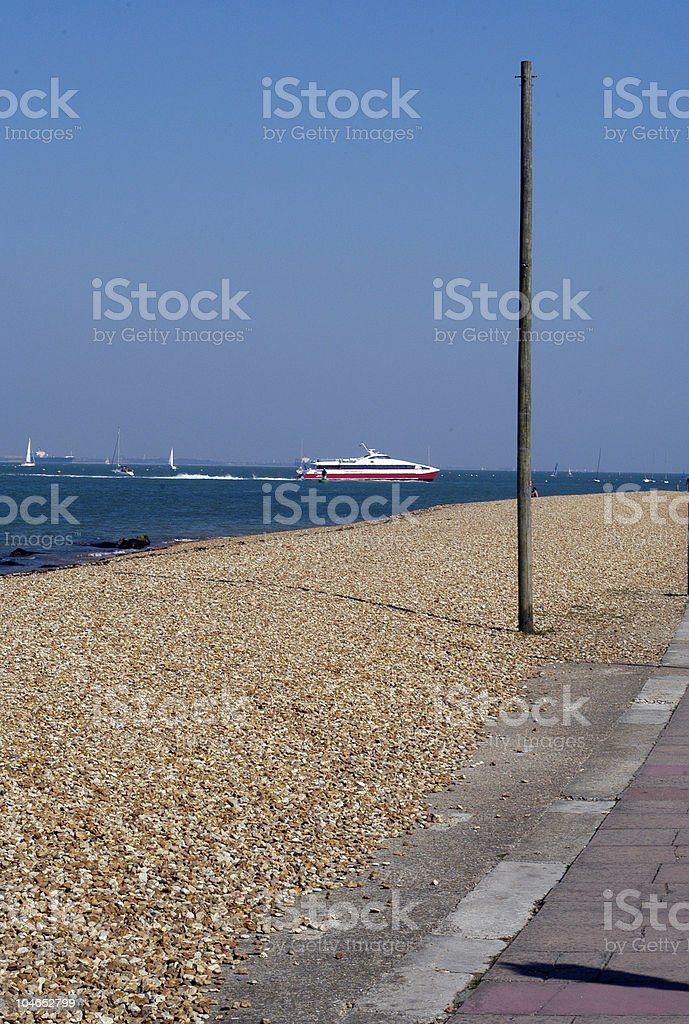 High speed ferry Isle of Wight stock photo