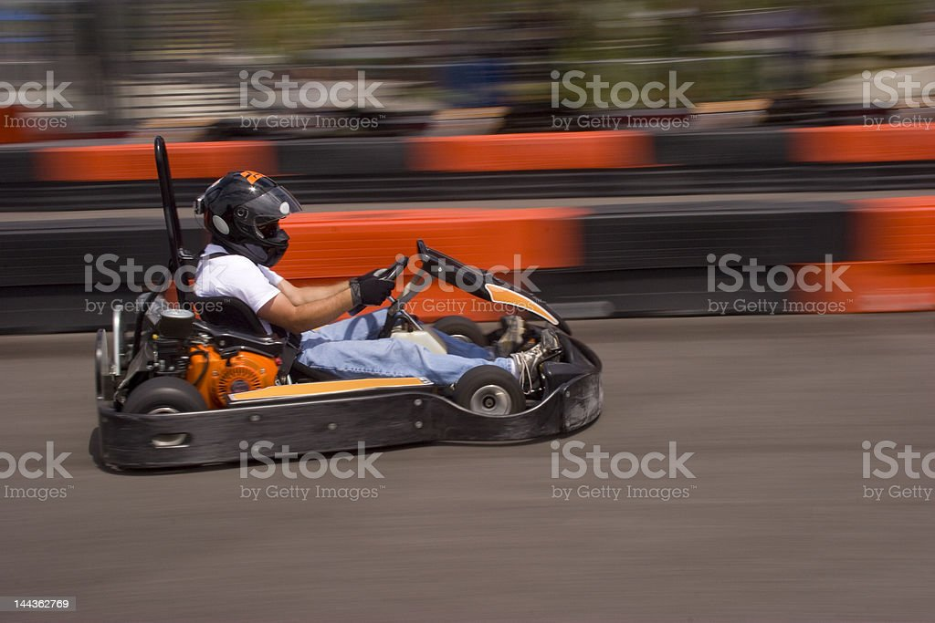 High Speed Go Kart royalty-free stock photo