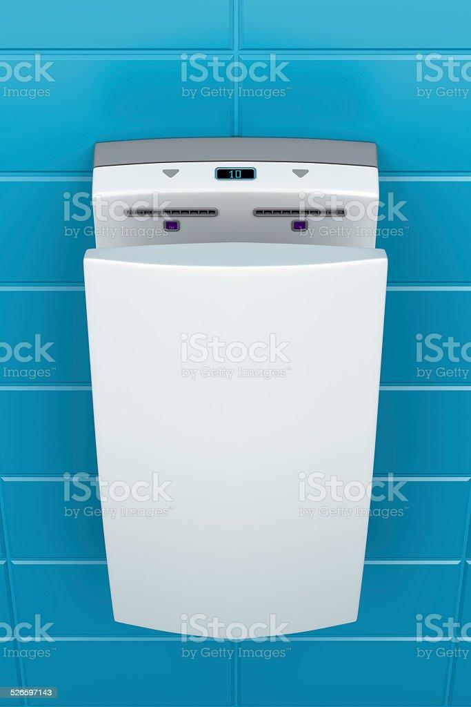 High speed hand dryer stock photo