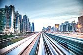 High speed In Dubai Metro