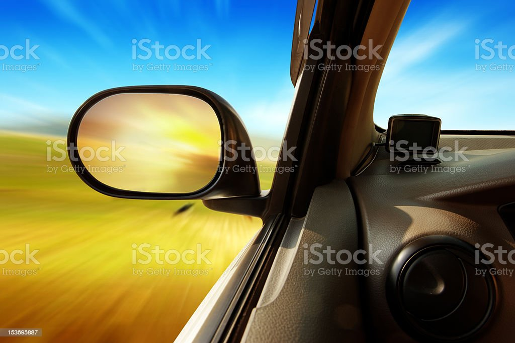 High speed in the car royalty-free stock photo
