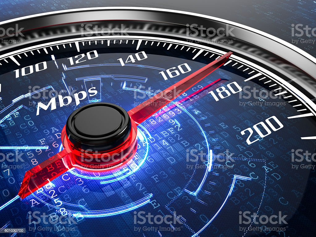 High speed internet connection concept stock photo