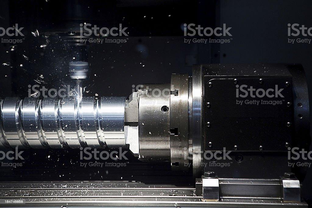 High Speed Lathe stock photo