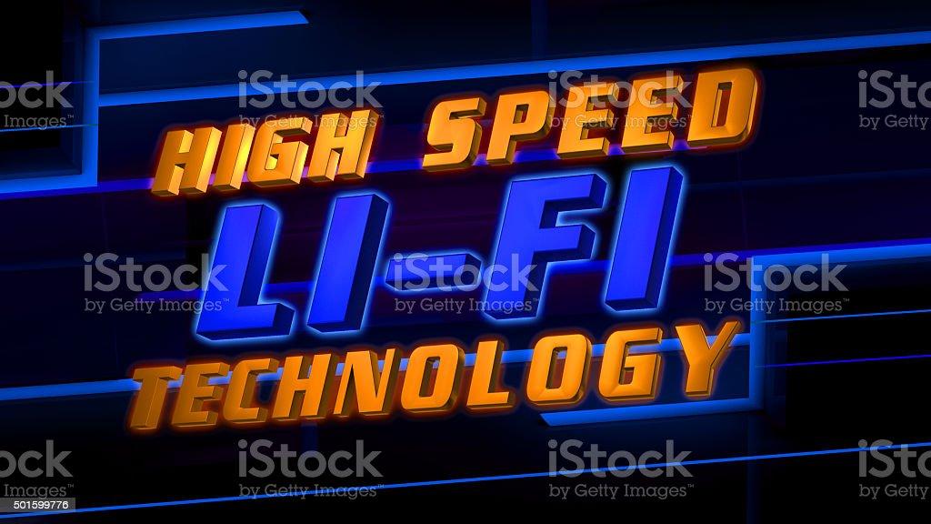 High speed Li-Fi wireless internet technology stock photo