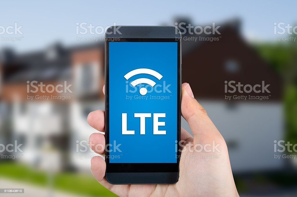 LTE high speed mobile internet connection device stock photo