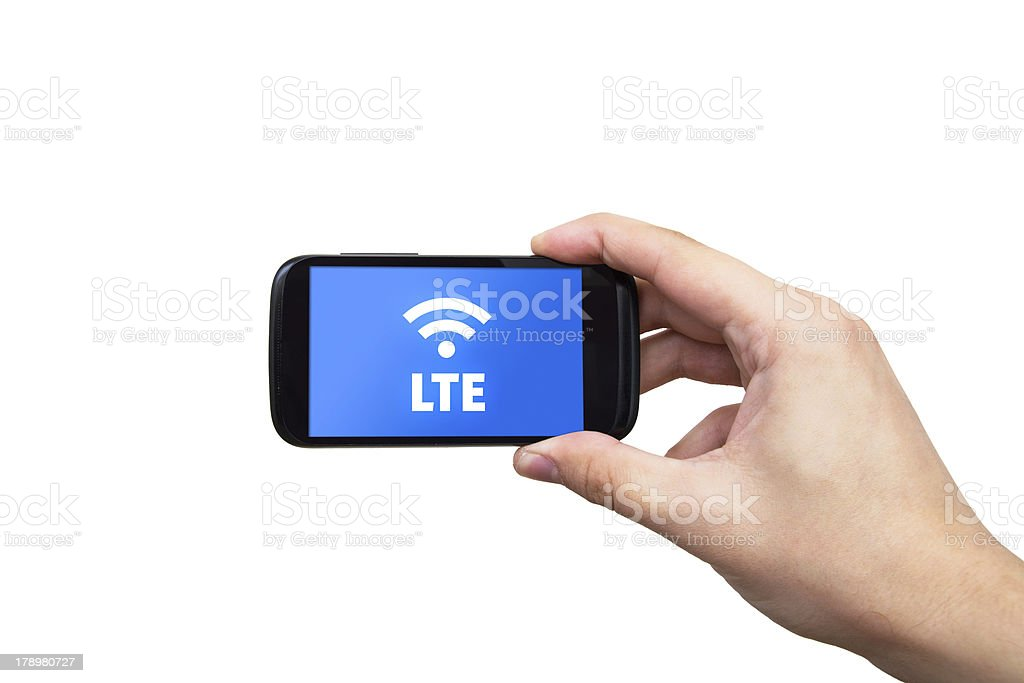LTE high speed mobile internet connection stock photo