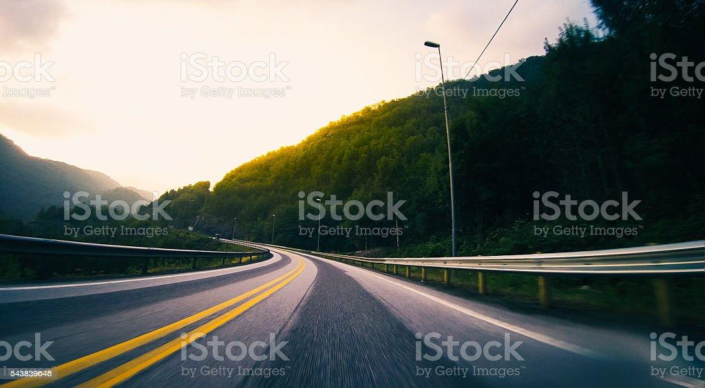 High Speed Motorways of Norway stock photo