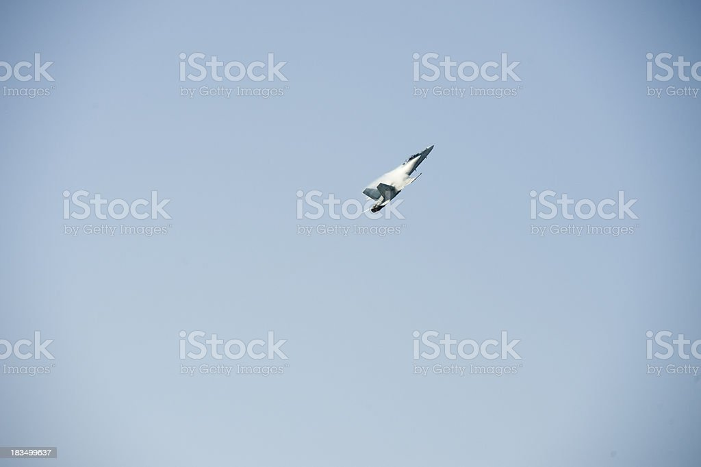 F-18 High Speed Pass royalty-free stock photo