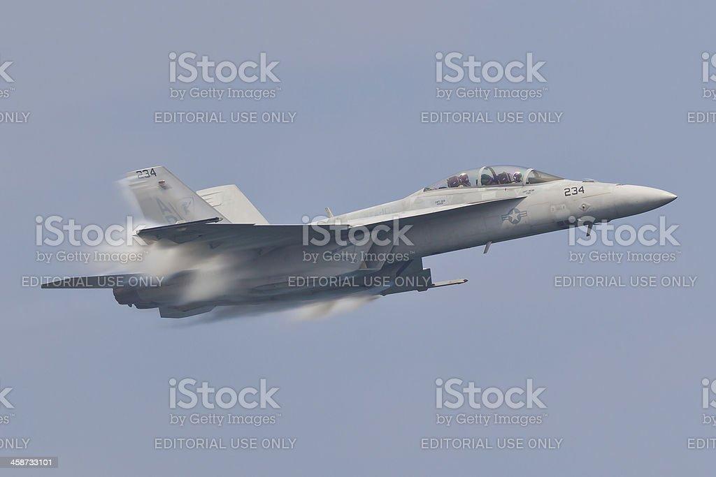 F-18 High Speed Pass stock photo
