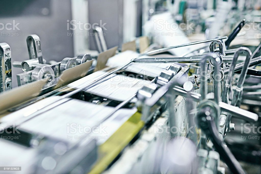 High speed printing stock photo