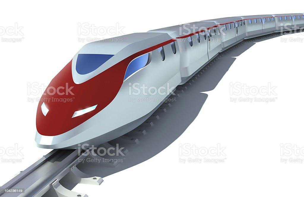 High speed train locomotive royalty-free stock photo
