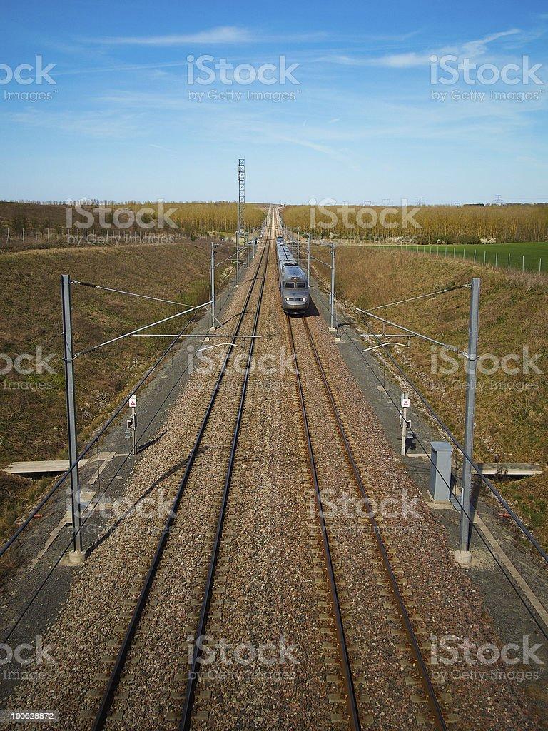 High speed train royalty-free stock photo