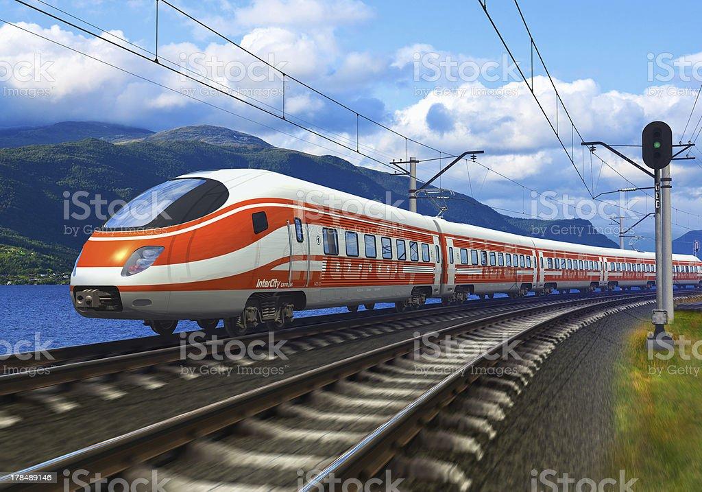 High speed train stock photo