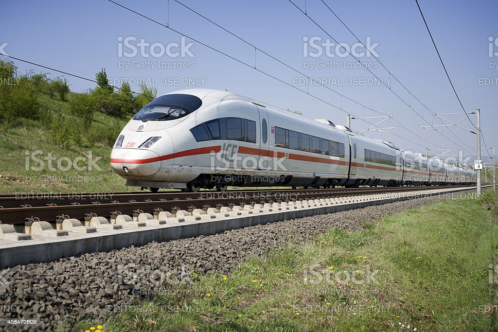ICE High Speed Train royalty-free stock photo
