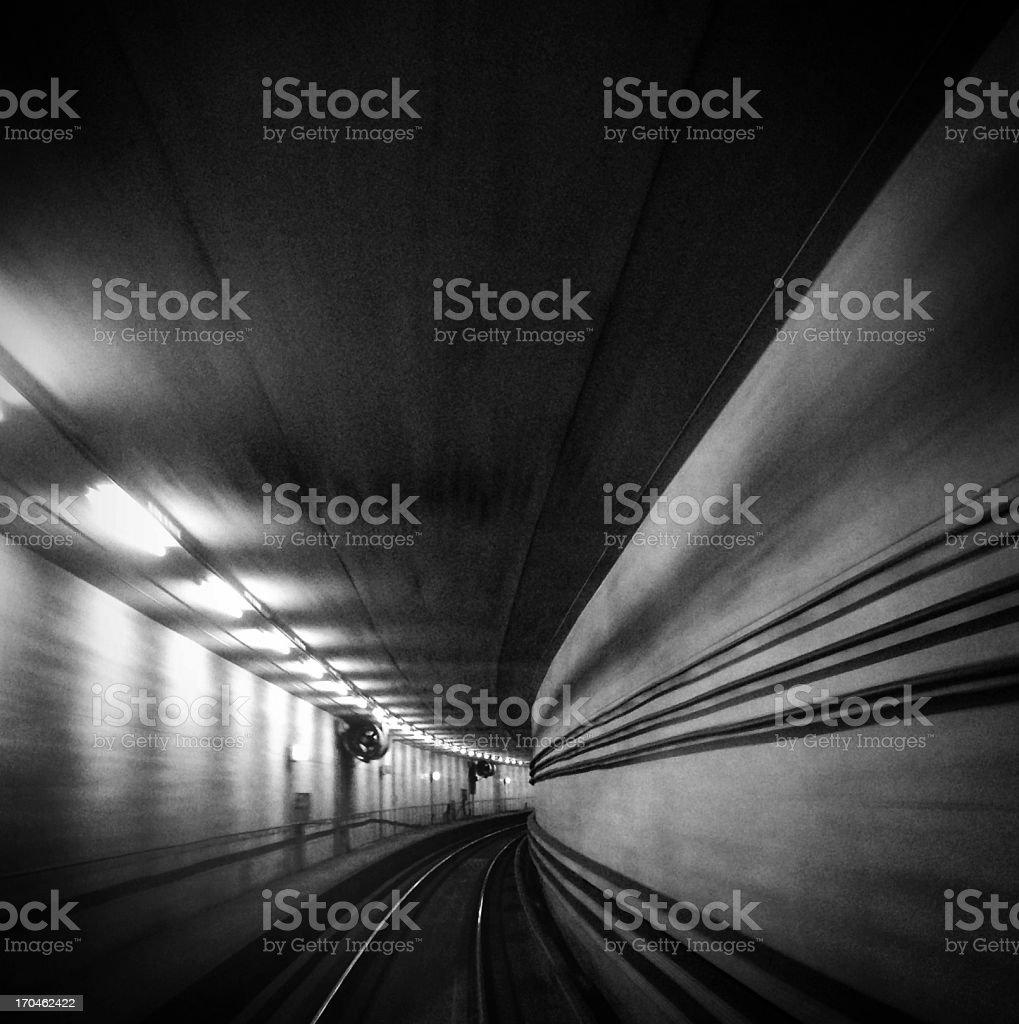 High Speed Train Tunnel stock photo