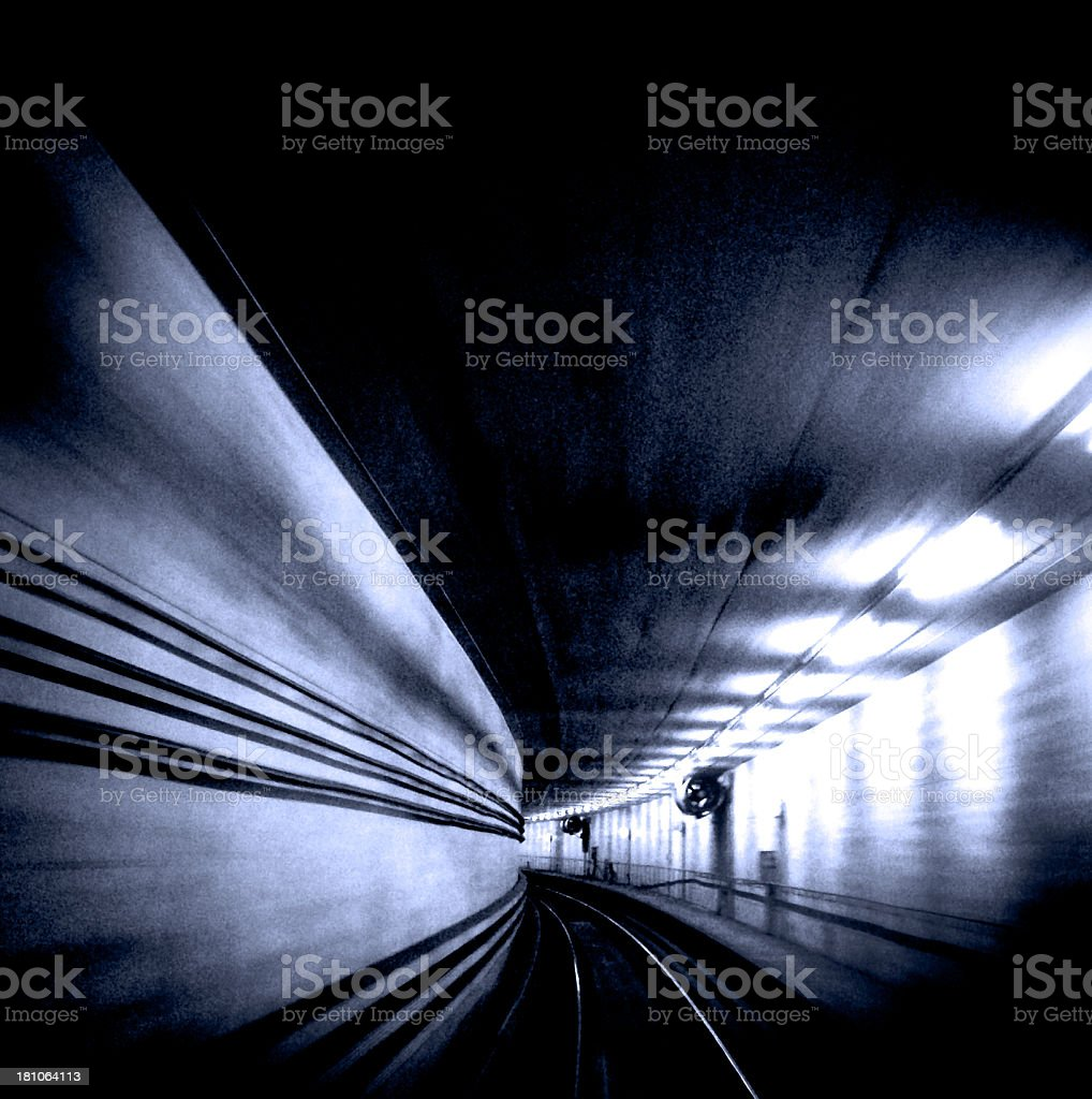 High Speed Train Tunnel royalty-free stock photo