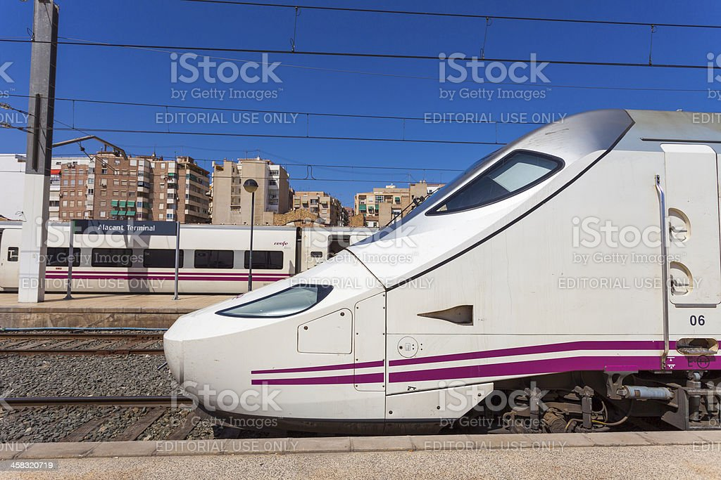 AVE High Speed Trains, Alicante stock photo