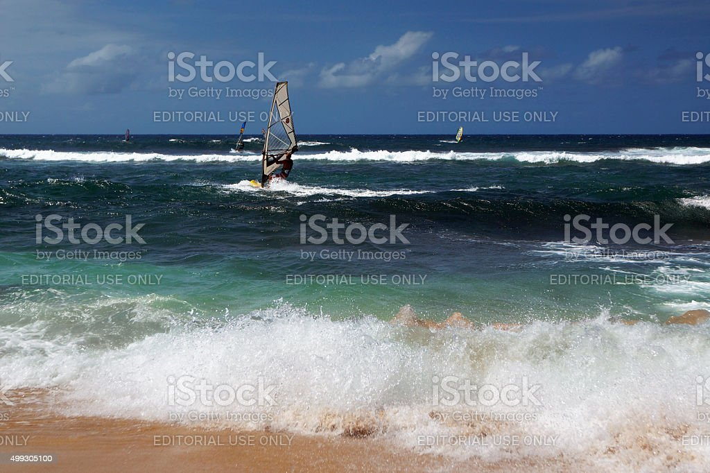 High Speed Windsurfer stock photo