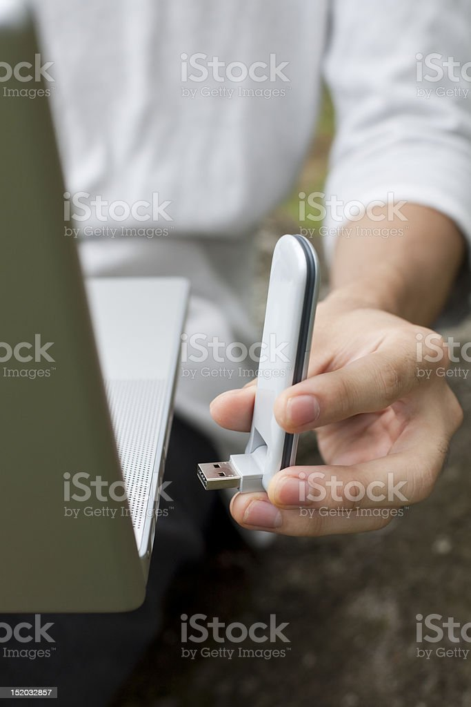High Speed Wireless Internet Modem stock photo