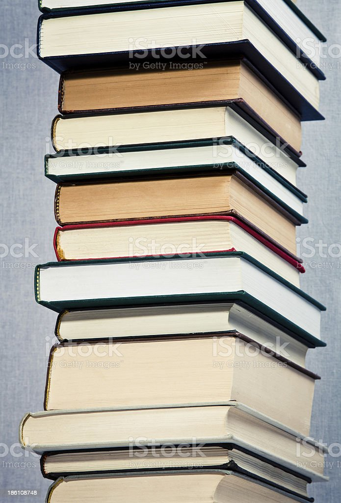 High stack of books royalty-free stock photo