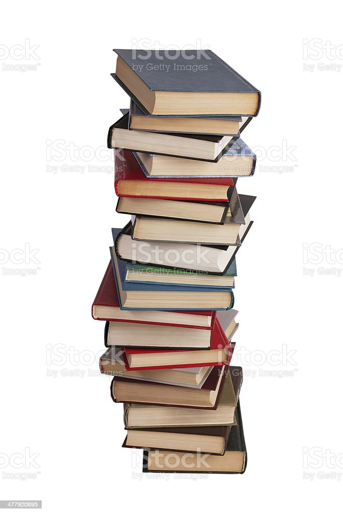High stack of different books royalty-free stock photo
