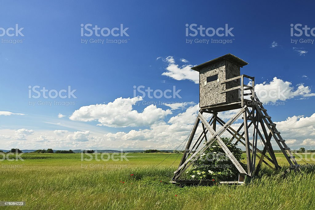 High stand on the heath royalty-free stock photo