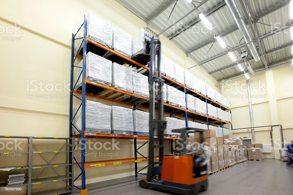 High storage rack warehouse royalty-free stock photo