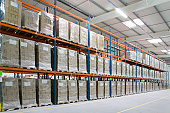 High storage rack warehouse with pallets