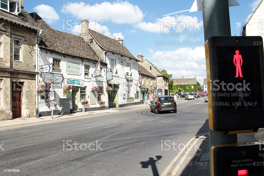 High Street in Lechlade, Gloucestershire foto stock royalty-free