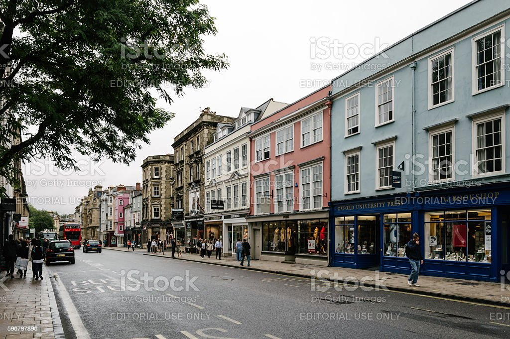 High street in Oxford stock photo