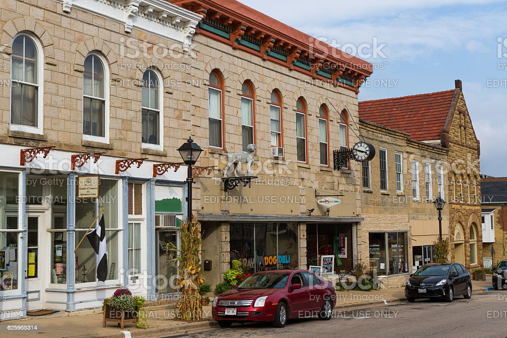 High Street, Mineral Point stock photo