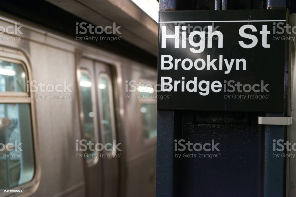 High Street stock photo