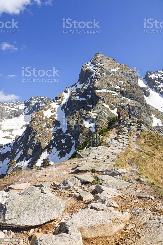 High Tatra Mountains, Karb and Koscielec royalty-free stock photo