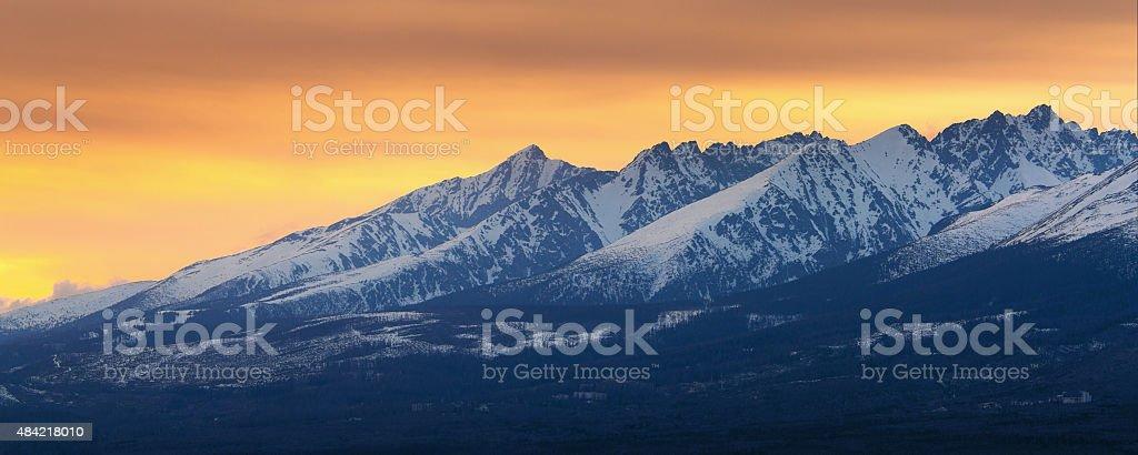 panorama de las montañas Tatra foto de stock libre de derechos