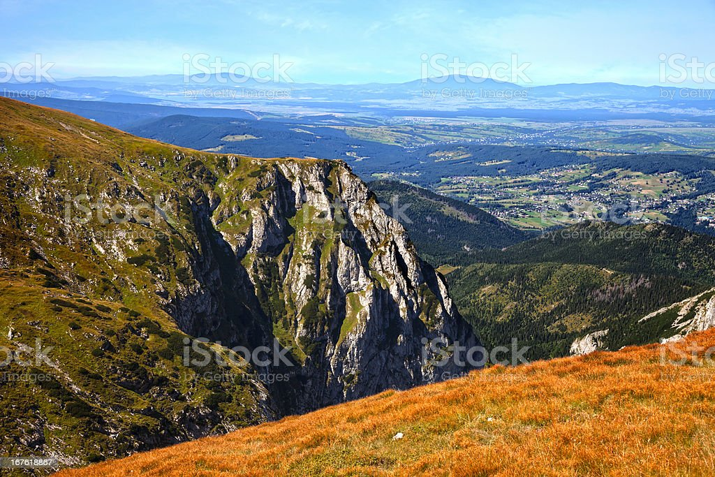 High Tatras Mountain Panorama royalty-free stock photo