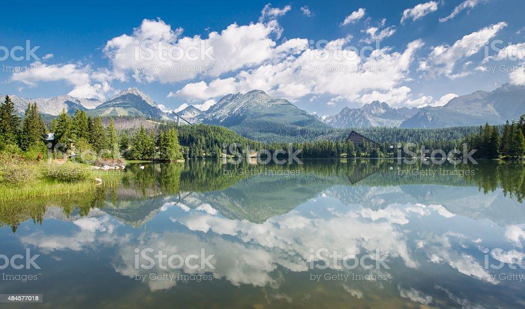 High Tatras Reflection, Slovakia stock photo