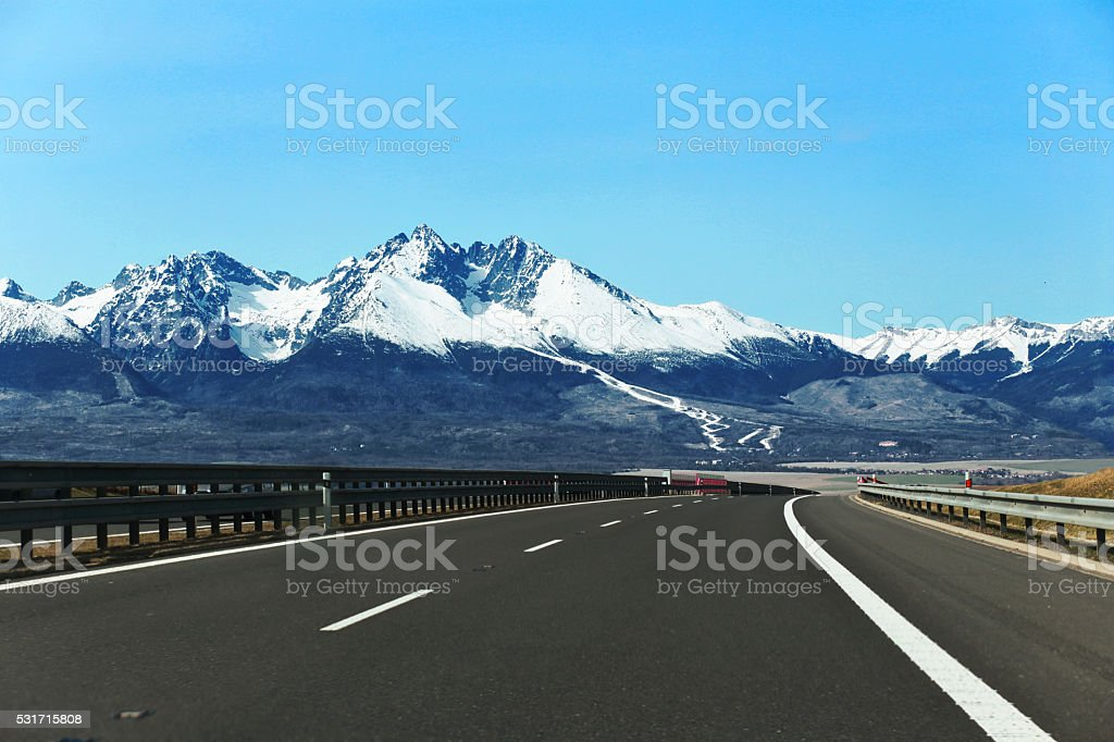 High Tatras spring stock photo