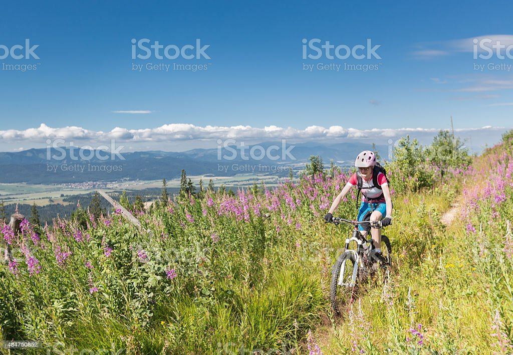 High Tatras Summer Biking, Slovakia stock photo