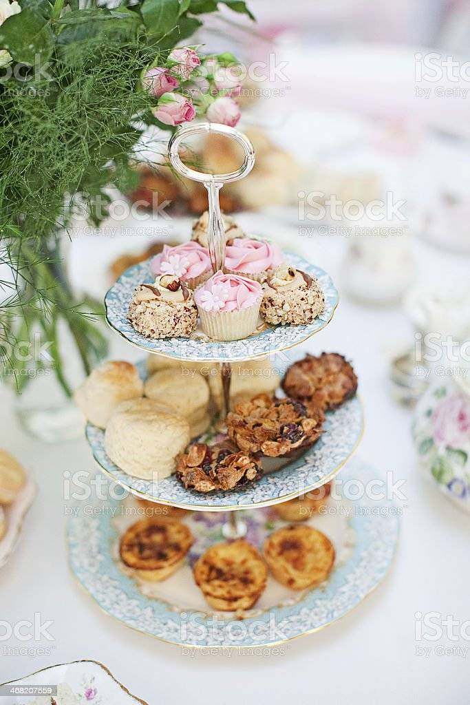 High Tea Cake Stand stock photo