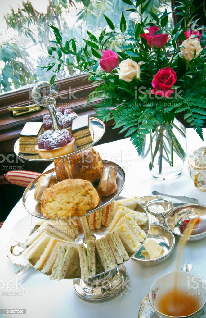 High tea in a British style royalty-free stock photo