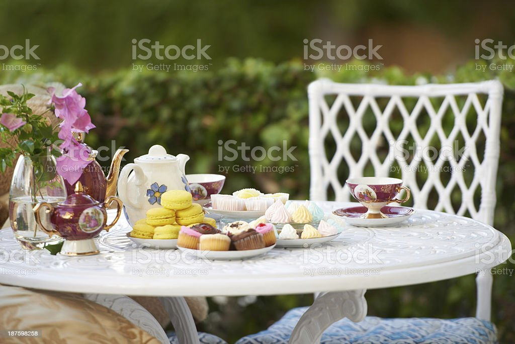 High tea! stock photo