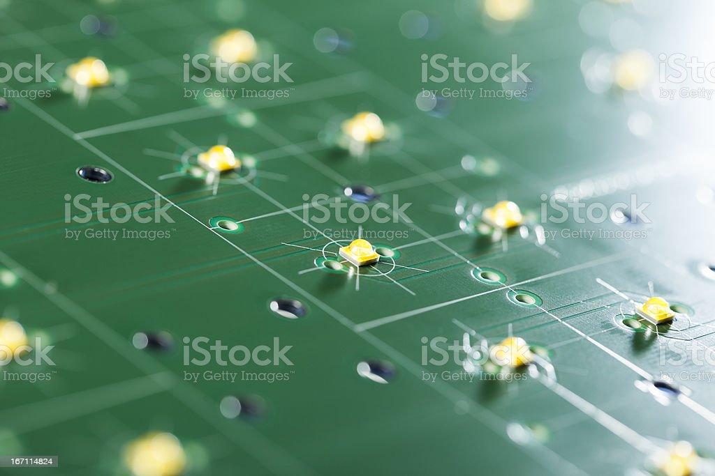 High Tech Electronics - Green Computer Technology royalty-free stock photo