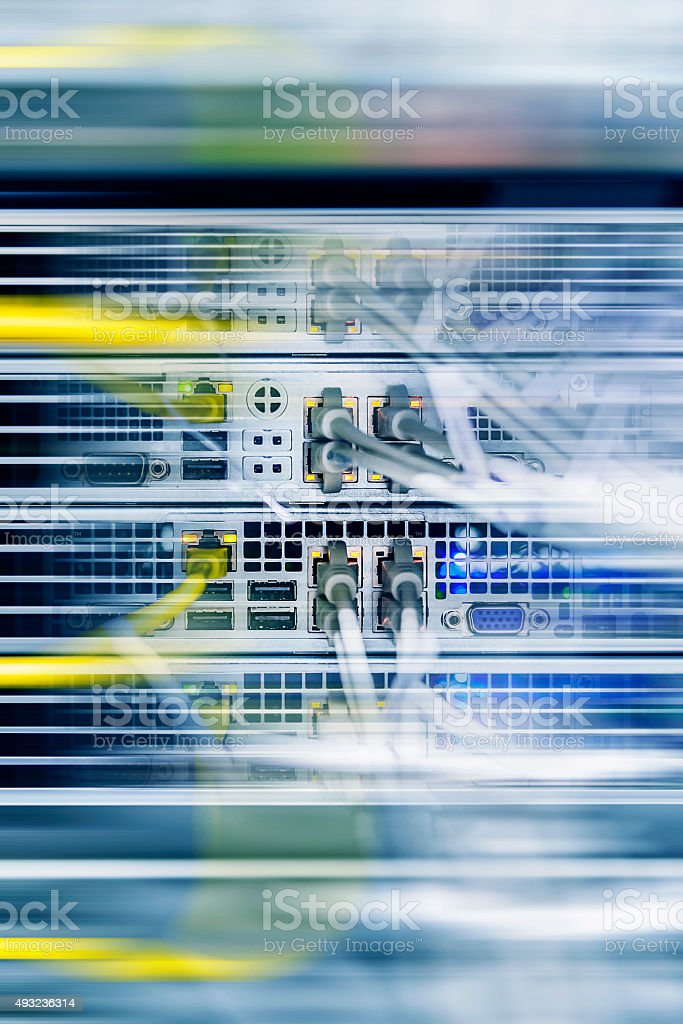 High tech network data security center background stock photo